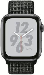 Apple Watch Series 4 Nike+ 44mm vesmírně šedý hliník/černý provlékací sportovní řemínek Nike