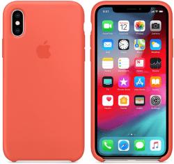 Apple silikonový kryt pro iPhone XS Max, nektarinkový
