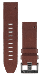 Garmin QuickFit 22 kožený řemínek, hnědý