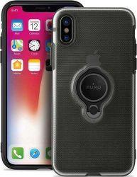 Puro pouzdro s magnetickým kroužkem pro iPhone X/Xs, černá