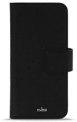 Puro Wallet knížkové pouzdro pro Apple iPhone Xs/X, černá