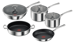Tefal E475S544 Reserve Collection triple sada hrnců a pánví (8ks)