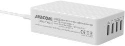 Avacom FamilyHUB 4xUSB QC nabíječka, bílá