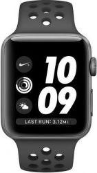 Apple Watch Series 3 Nike+ 38 mm, vesmírně šedý hliník a černý/antracitový sportovní řemínek Nike