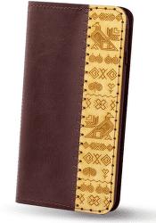 Red Ant knížkové pouzdro pro Apple iPhone X a Xs edice Čičmany, bordová