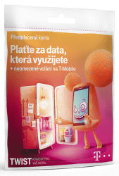 T-Mobile Twist 200 Kč+ data na den, SIM karta