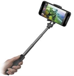 SBS bezdrátová teleskopická selfie tyč, černá