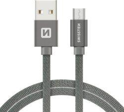 Swissten datový kabel Micro USB 1,2 m šedý
