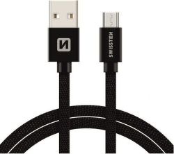 Swissten datový kabel Micro USB 2,0 m černý