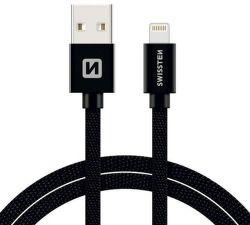 Swissten datový kabel Lightning 1,2 m černý