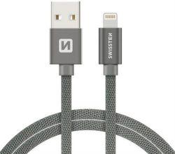 Swissten datový kabel Lightning 1,2 m šedý