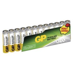 GP Alkaline AAA (LR03), 12ks