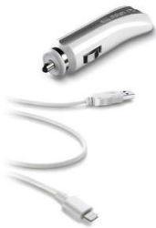 CellularLine autonabíječka s USB, 1A (bílá)