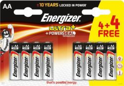 Energizer Ultra+ AA (LR06), 4+4 ks
