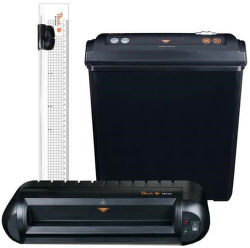 Peach PBP200, 3in1 Office Kit - skartovač, laminátor, řezačka