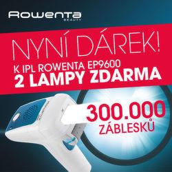300 000 záblesků zdarma k epilátoru Rowenta EP9600F0