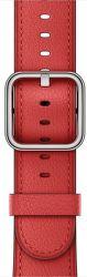 Apple Watch 38mm červený klasický řemínek