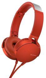 Sony MDR-XB550AP červená