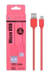 Plus AS115 MicroUSB datový kabel 1m, červená