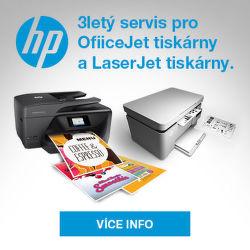 3 roky záruka po registraci na tiskárny HP