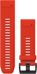 Garmin QuickFit 26mm silikonový řemínek pro Fénix 3/5X červený