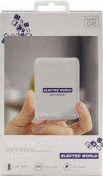 Electro World powerbanka 5000 mAh, bílá