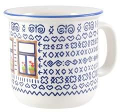 Štrbské Presso Čičmany s oknem/velký keramický hrnek (1,8 dcl)