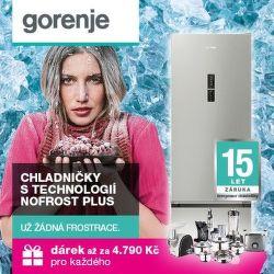 Dárek k chladničkám Gorenje NoFrost Plus