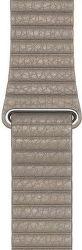 Apple Watch 44 mm kožený řemínek Loop Strap M, kamenně šedá