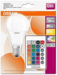 OSRAM LED 60 dim RGBW RC 9W E27