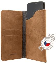 Fixed Pocket Book kožené pouzdro pro Apple iPhone X/Xs, hnědá