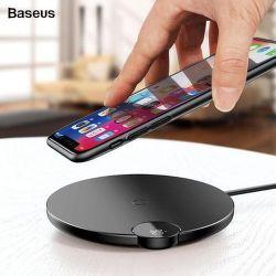 Baseus Digital LED Wireless Charge bezdrátová nabíječka 10W, černá