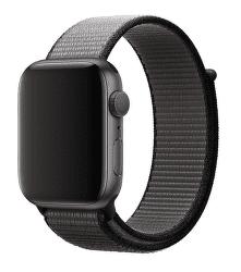 Apple Watch 44 mm sportovní provlékací řemínek, černošedý