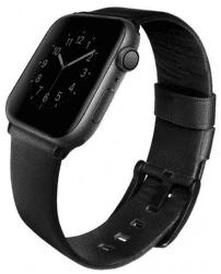 Uniq Mondain řemínek pro Apple Watch 44 mm, černá