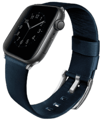 Uniq Mondain řemínek pro Apple Watch 44 mm, modrá