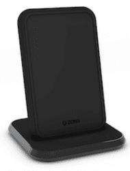 Zens Aluminium stojanová bezdrátová nabíječka 10W, černá