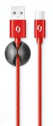 Aligator datový kabel USB-C 1 m 2 A červený