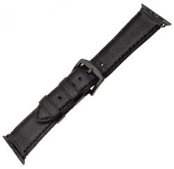Fixed  Berkeley řemínek pro Apple Watch 44 mm a 42 mm, černý s černou přezkou