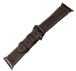 FIXED Berkeley řemínek pro Apple Watch 44 mm a 42 mm vel. L, uhlově hnědý s černou přezkou