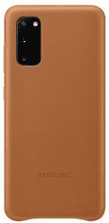 Samsung Leather Cover pro Samsung Galaxy S20, hnědá