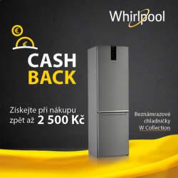 Cashback až 2 500 Kč na chladničky Whirlpool