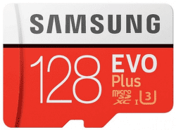 Samsung microSDXC 128 GB EVO Plus + SD adaptér