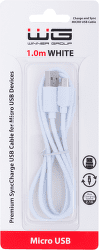 Winner datový kabel Micro USB 1 m bílý