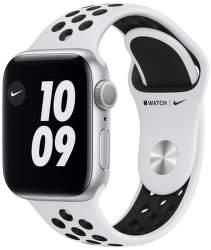 Apple Watch Nike Series 6 40 mm stříbrný hliník s černým sportovním řemínkem
