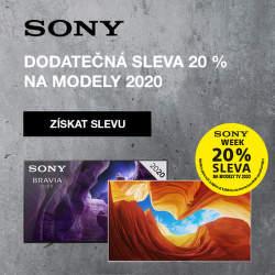 Dodatečná 20 % sleva na televize Sony 2020