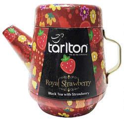 Tarlton Tea Pot Royal Strawberry 100g  černý čaj