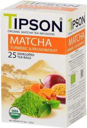 Tipson Bio Matcha Turmeric & Passion Fruit 37g zelený čaj