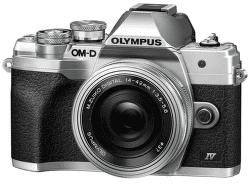 Olympus OM-D E-M10 Mark IV stříbrný + 14-42 mm f/3,5-5,6 EZ-M1442EZ Pancake