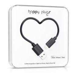 Happy Plugs 9904 Lightning kabel 2m, černá