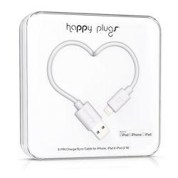 Happy Plugs 9909 Lightning kabel 2m, bílá